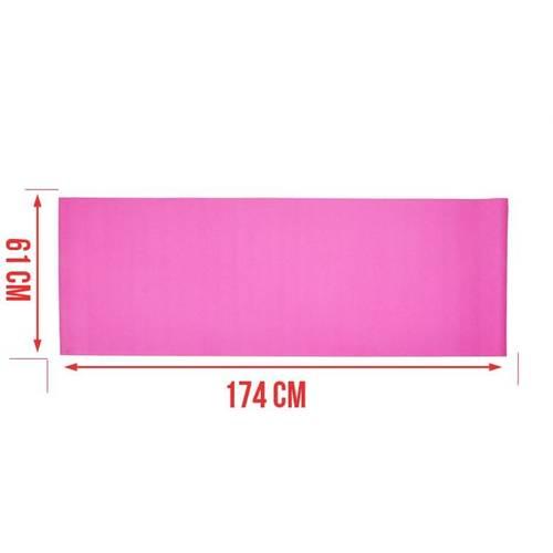 Saltea din Spuma PVC pentru Yoga sau Gimnastica, Culoare Roz, Dimensiuni 174x61cm