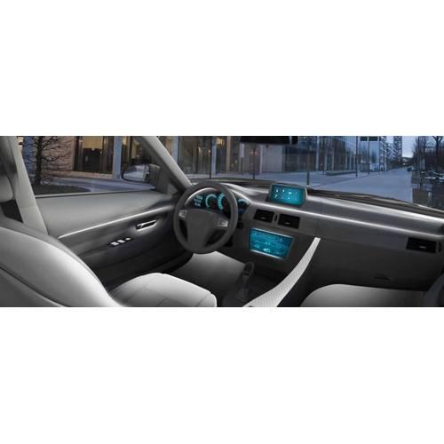 Fir cu lumina ambientala pentru auto , neon ambiental flexibil 2 M Alb - flr291