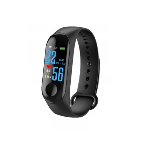 Bratara Fitness Smart M3 cu Display LED, Bluetooth, IP67, Compatibil Android si iOS, Culoare Negru