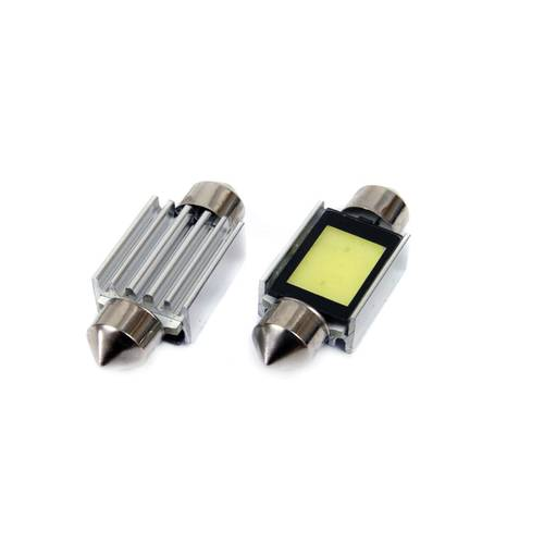 Set 2 Becuri LED CanBus, COB2 Festoon 36mm,12V, Alb