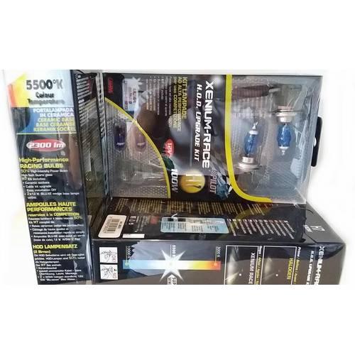 Kit becuri H7 luminozitate 100W, consum 55/60W 12V Xenium tehnologii Race 2buc + Pachet bonus pozitii Lampa Italia